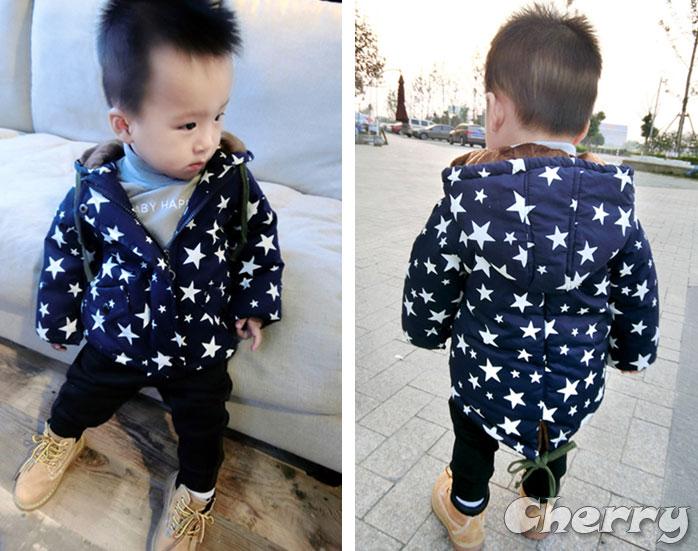 男寶寶秋冬加厚星星外套童裝