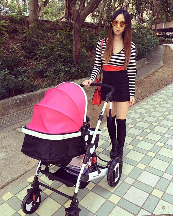 寶寶高景觀折疊嬰兒車可躺可坐避震兒童手推減震嬰兒推車