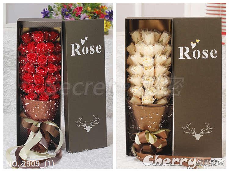 玫瑰肥皂花禮盒香皂花束/情人節/生日禮物/閨蜜/聖誕節/結婚訂婚求婚禮品-雪花33朵