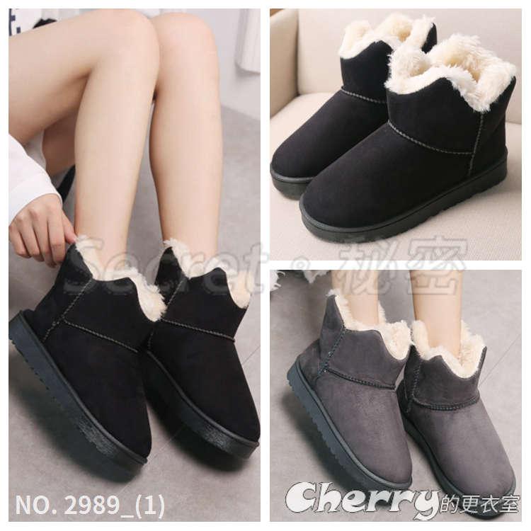平底保暖雪地靴加厚棉鞋短靴防滑女靴