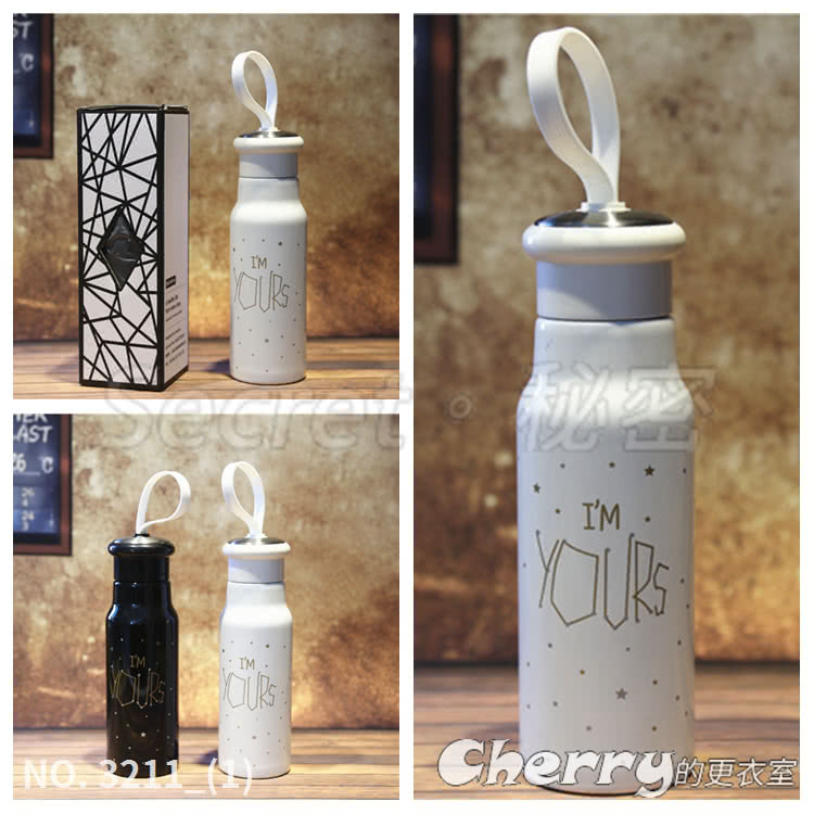不銹鋼情侶對杯保溫瓶戶外運動提繩水杯學生星空隨手杯交換禮物