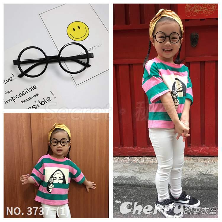 耍可愛寶寶眼鏡框無鏡片小孩眼鏡圓框男童兒童女童文青眼鏡架