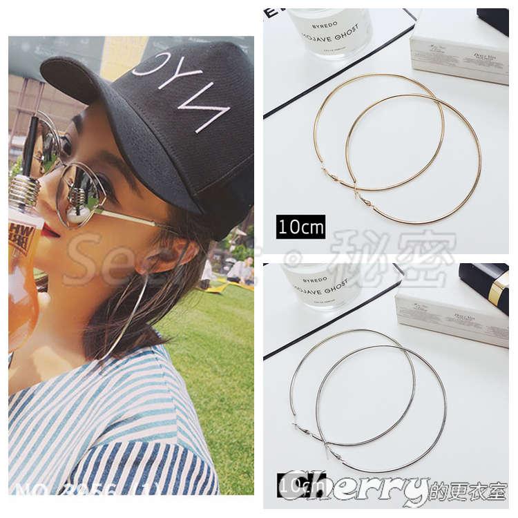 個性誇張大耳圈耳環性感時尚圈圈裝飾品耳扣耳環
