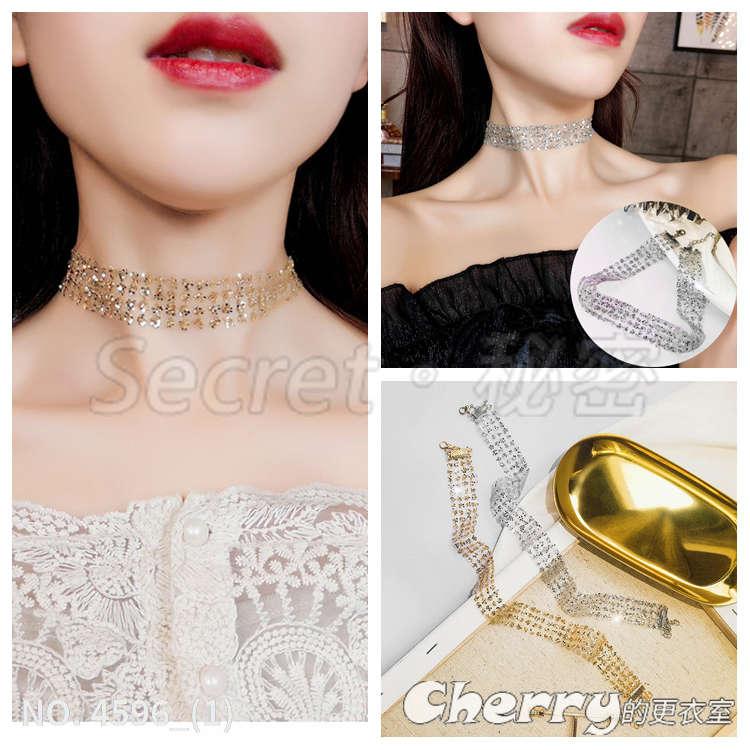 質感短款項鏈chocker隱形頸鏈脖子鎖骨鏈頸帶飾品