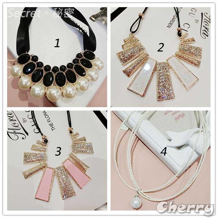 韓國韓版短款鎖骨鏈鏈珍珠誇張鎖骨項配飾裝飾飾品女
