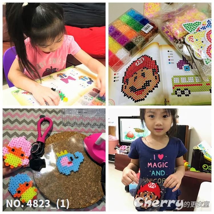 台灣豆豆喵-DIY5mm拼豆手腦EVA玩具手工3D立體拼圖益智像素孩子兒童禮物贈品套裝