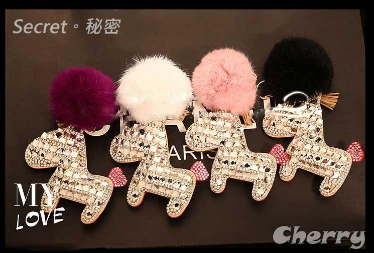 水鑽小馬汽車鑰匙扣水晶女士包掛 馬年開運時尚韓國正品 新款