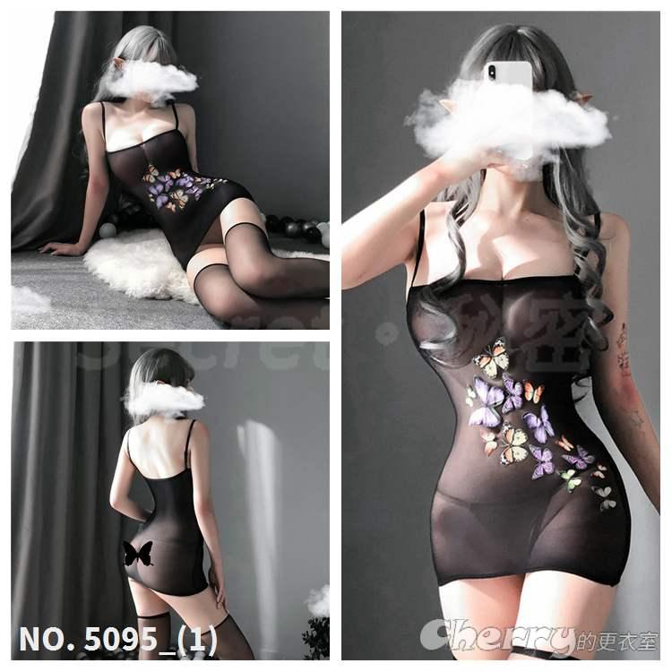 蝴蝶性感周揚青風直播內衣透明派對外拍角色扮演夜店緊身絲襪情趣酒店舞會連身超短迷你裙