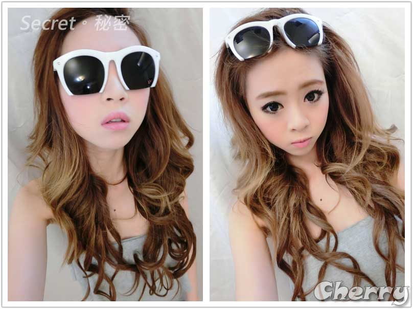 韓版膠框特殊造型墨鏡