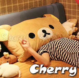 拉拉輕鬆小熊抱枕 可拆洗 雙人枕頭靠墊
