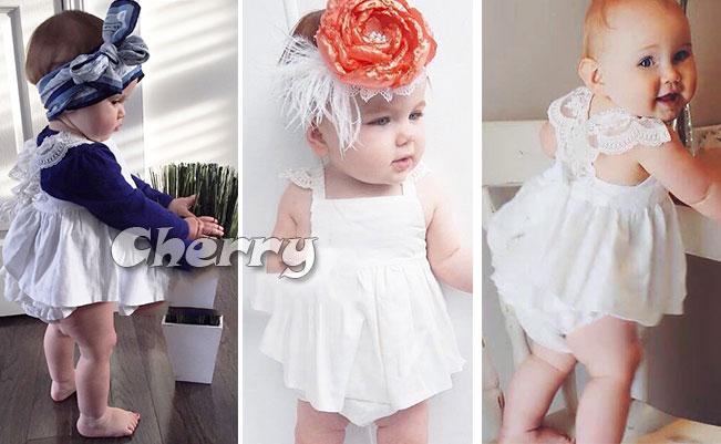 女寶寶純白公主小洋裝兩件套(送髮帶)