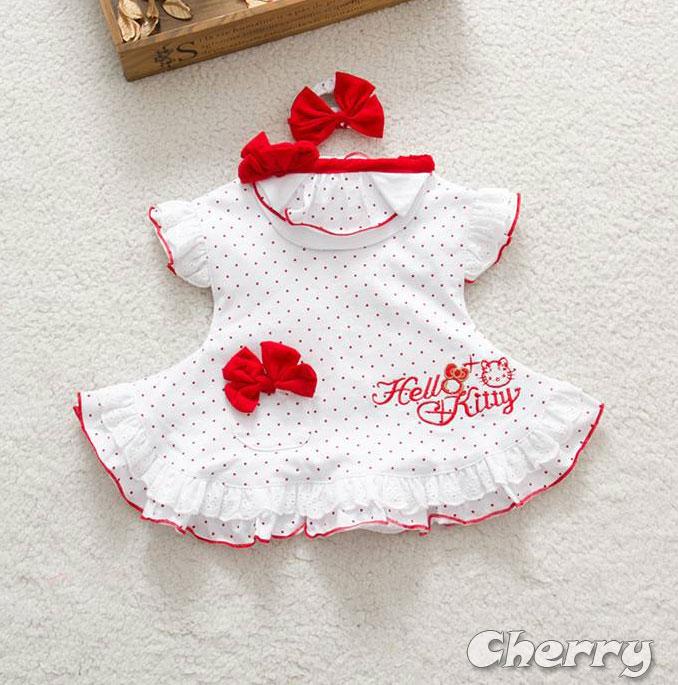 HELLO KITTY裙可愛公主裙三件套