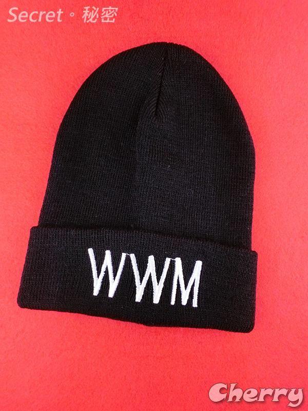 WWM黑色針織毛帽