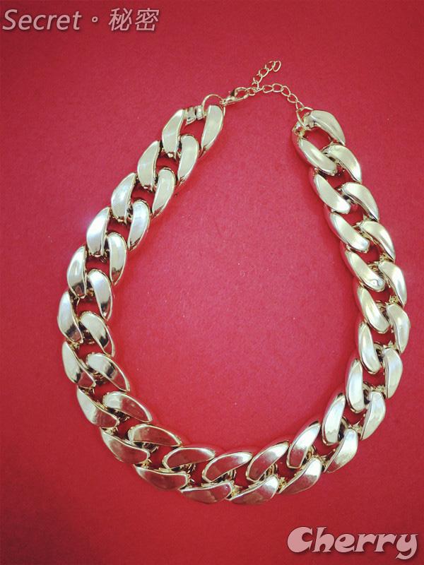 百搭金屬粗鏈條項鍊