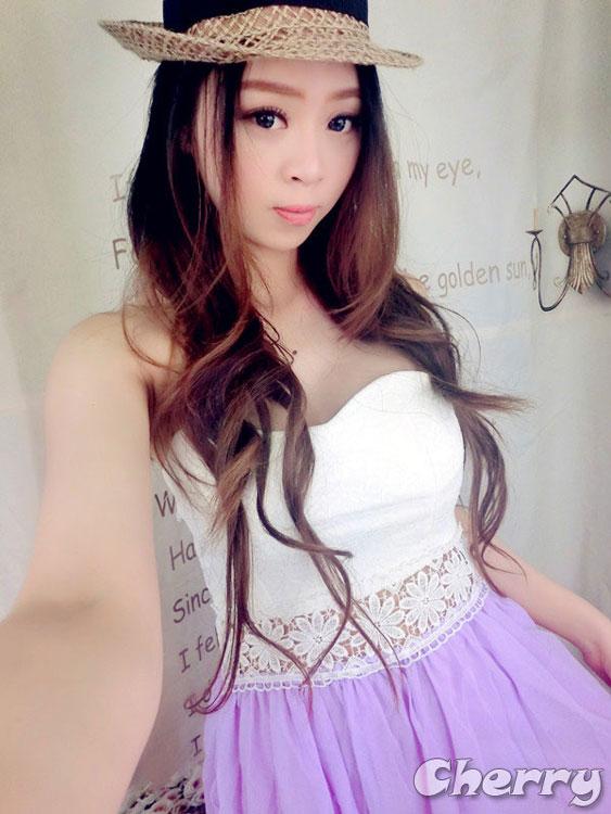 平口腰花邊鏤空浪漫拼色長洋裝