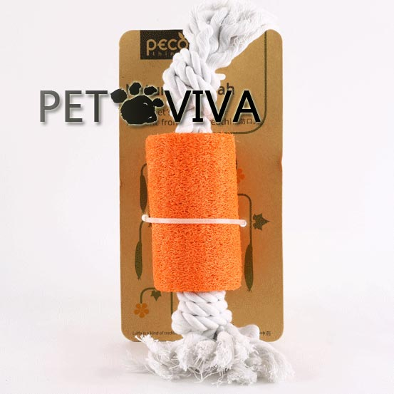 【PET VIVA】寵物玩具 天然植物絲瓜纖維棉繩段塊 磨牙潔齒除口臭抗憂鬱