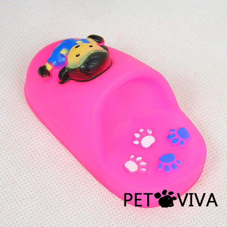 【PET VIVA】寵物玩具 卡通響聲發聲拖鞋互動玩具 貓狗可用