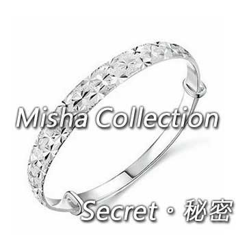 韓版 925銀 滿天星銀手鐲手環