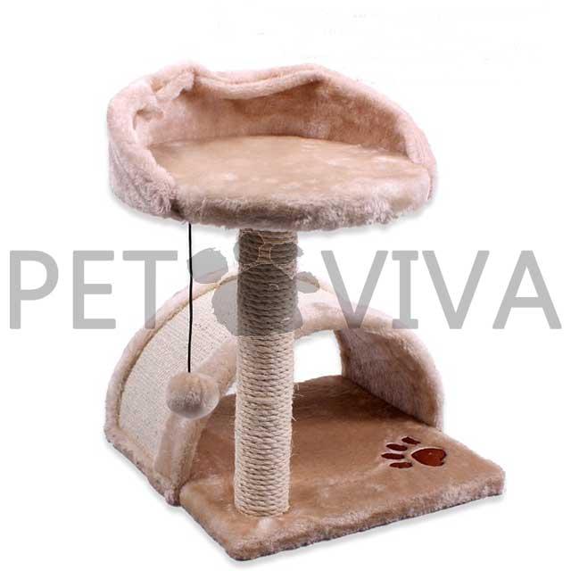 【PET VIVA】拱橋加天台 貓跳台 貓爬架 貓抓板 玩具用品