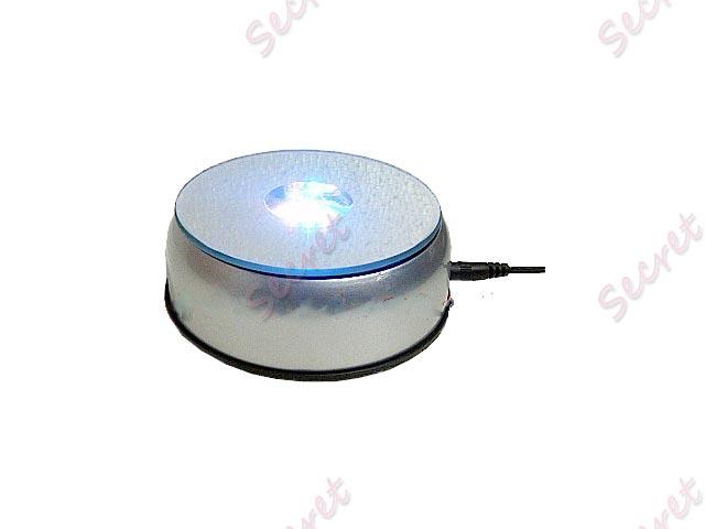 LED 七彩發光燈展示座 水晶產品鋼琴音樂盒底座 120*120