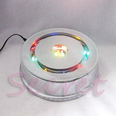 大號 180mm LED七彩旋轉發光燈展示座 水晶產品鋼琴音樂盒底座