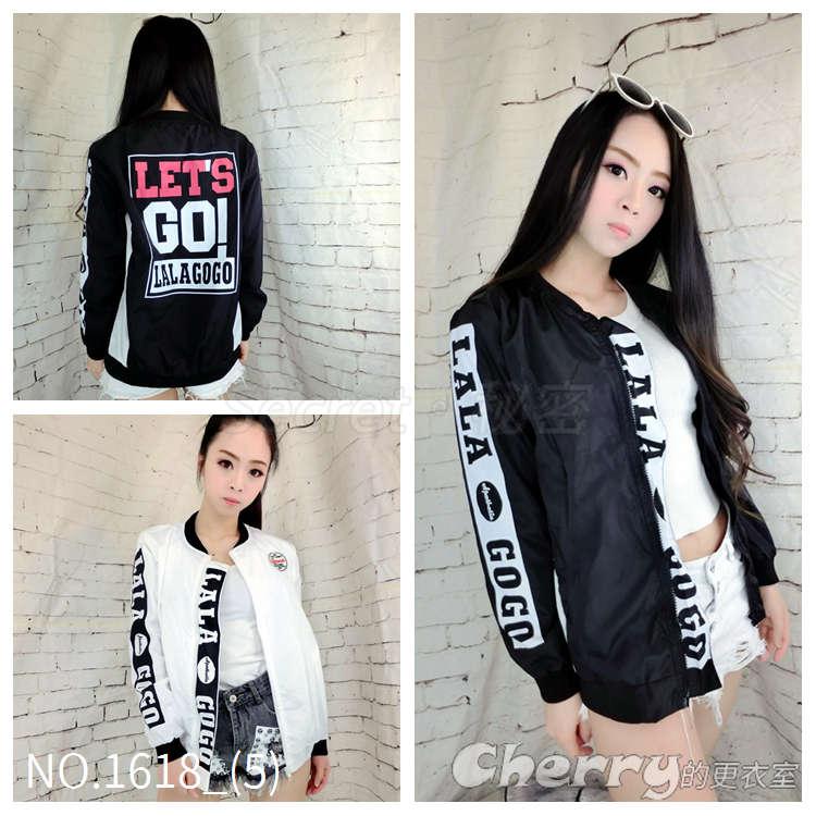 韓版立領拉鏈字母BF風衣棒球外套