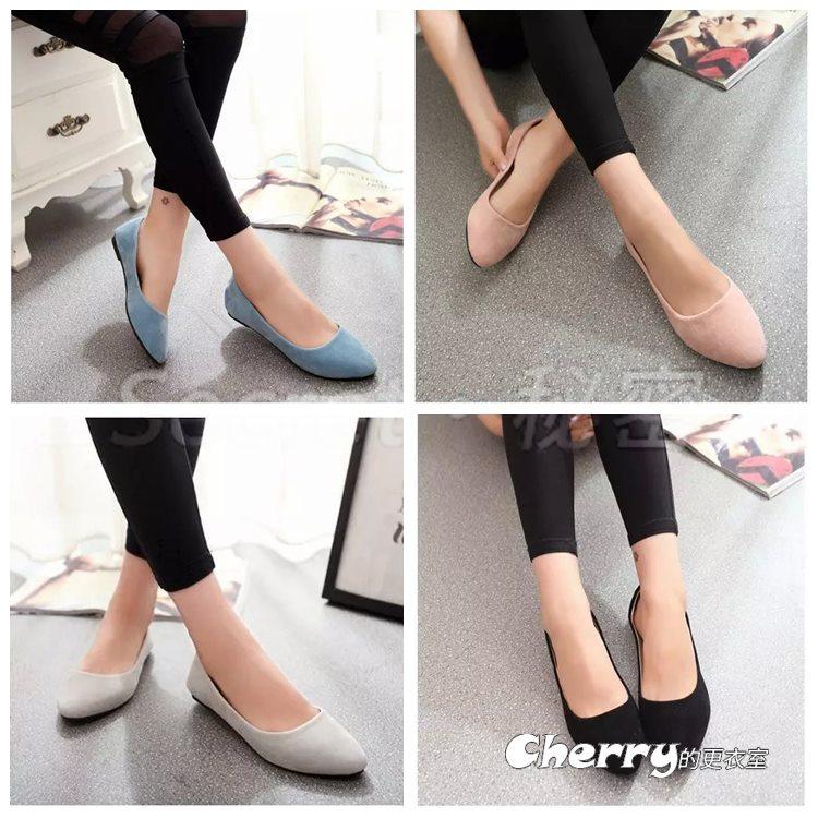 淺口圓頭鞋平底鞋工作鞋上班鞋平跟休閒鞋