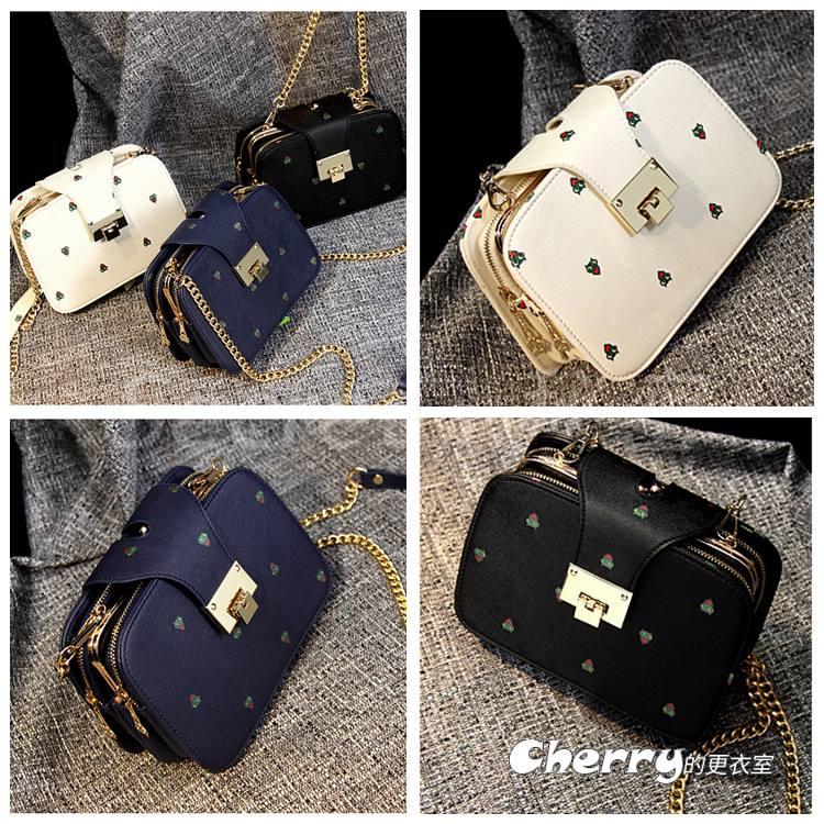 韓版鏈條小方包單肩包側背包斜背包手機包