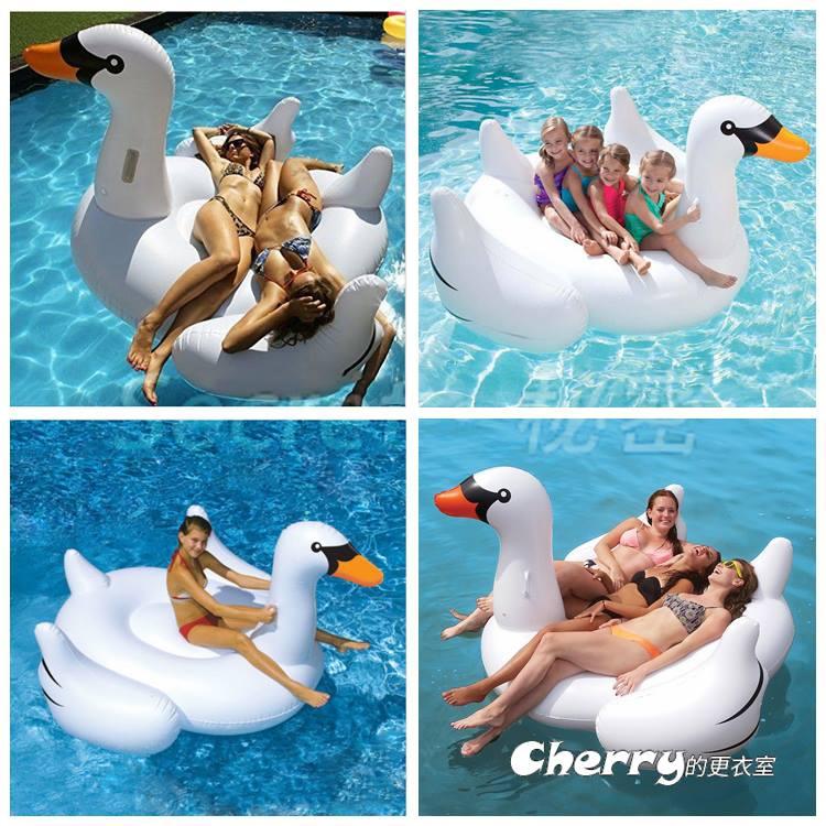 超大充氣白天鵝游泳圈/水上漂流/辦party/氣墊漂浮床