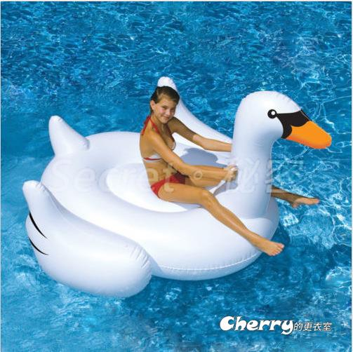 小號白天鵝游泳圈/水上漂流/辦party/氣墊漂浮床