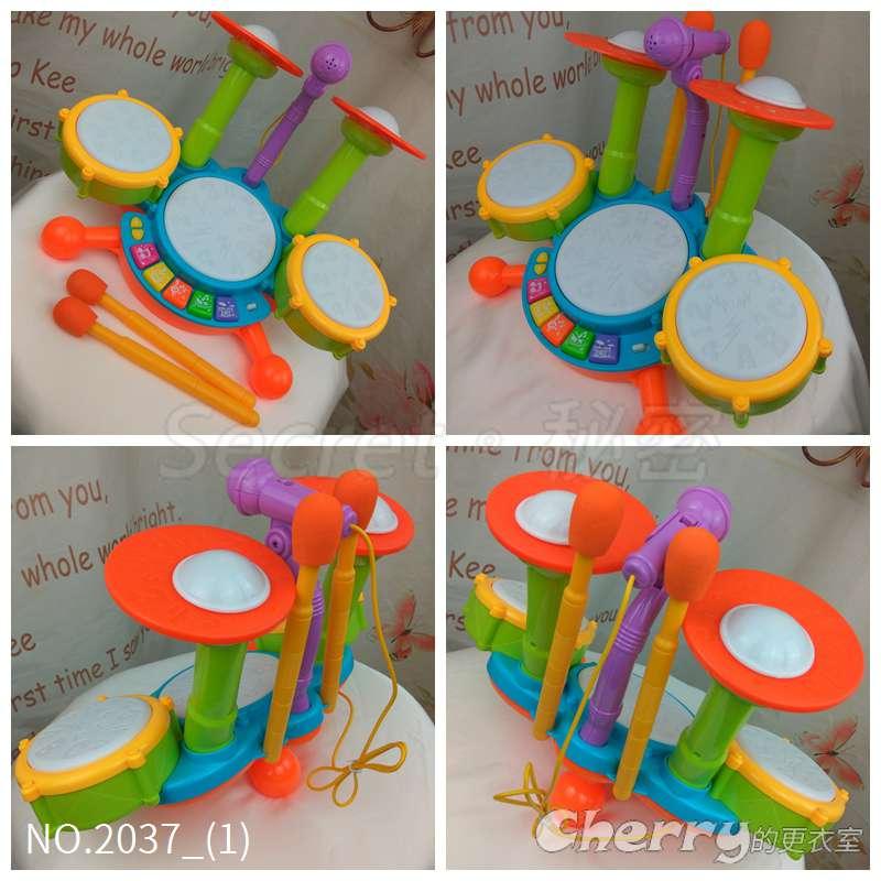 兒童爵士鼓嬰幼兒早教音樂燈光拍拍鼓寶寶玩具電子鼓
