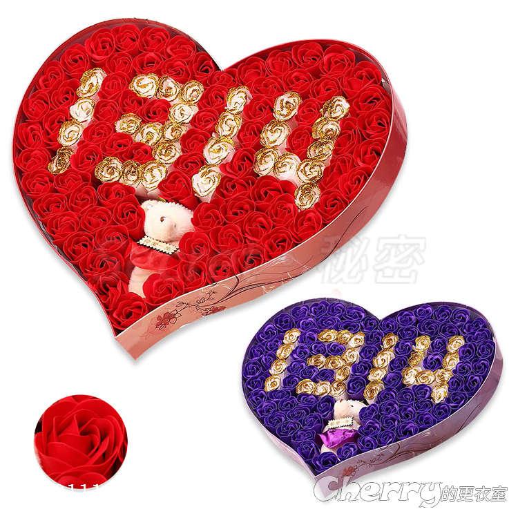 一生一世玫瑰香皂花束/1314肥皂花禮盒 情人節/生日禮物/閨蜜/聖誕節/結婚/訂婚/求婚/創意禮品