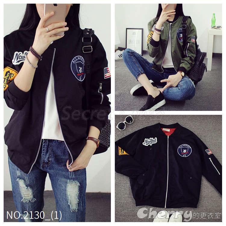 韓版BF風長袖短版夾克棒球外套