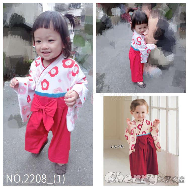 兒童日本和服童裝嬰兒扣式連體衣寶寶爬爬服連身裝
