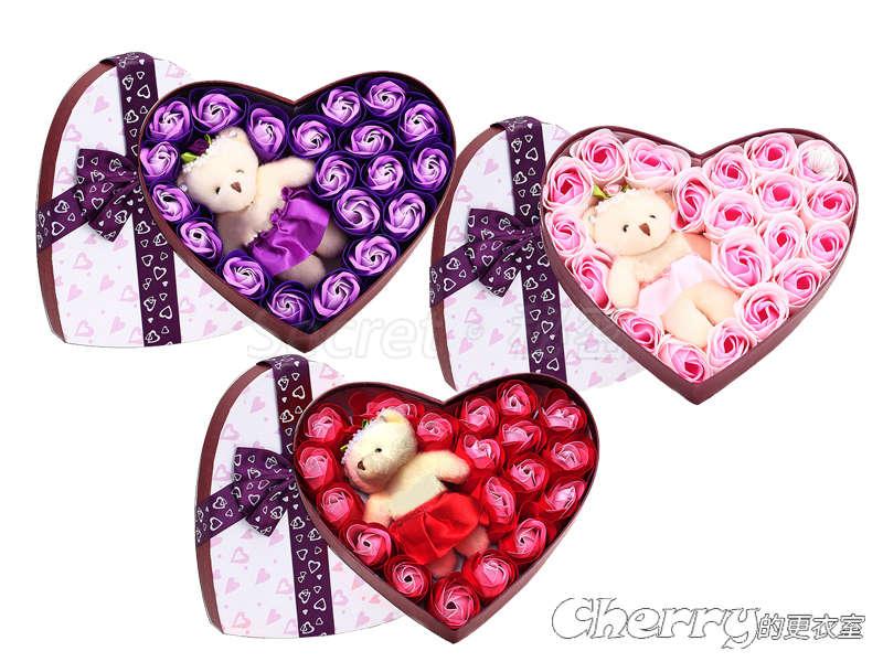 兩情相悅20朵玫瑰香皂花束/肥皂花禮盒 情人節/生日禮物/聖誕節/結婚/訂婚/求婚/創意禮品