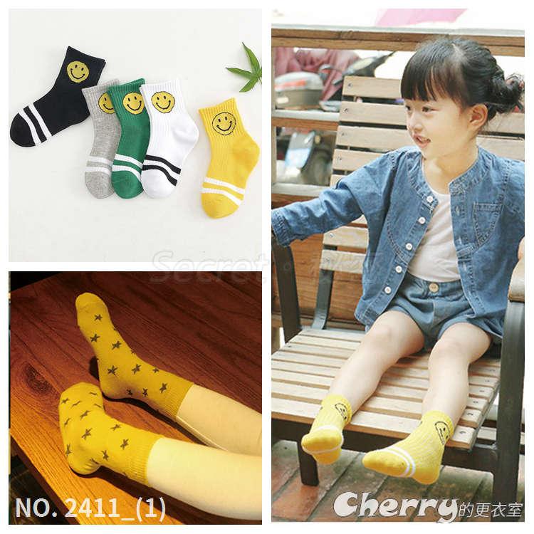 純棉薄款男女寶寶兒童襪中筒襪