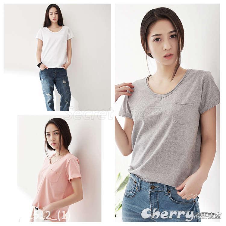 韓版大碼百搭上衣純棉打底衫短袖T恤
