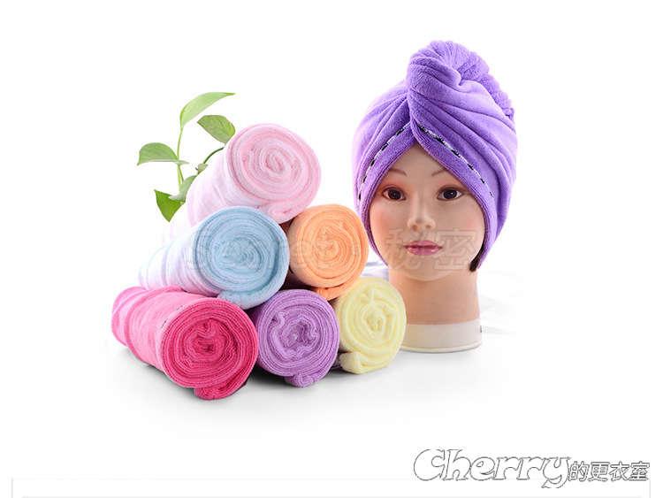 超細纖維乾髮帽花邊帽速乾毛巾吸水浴帽頭髮包頭巾
