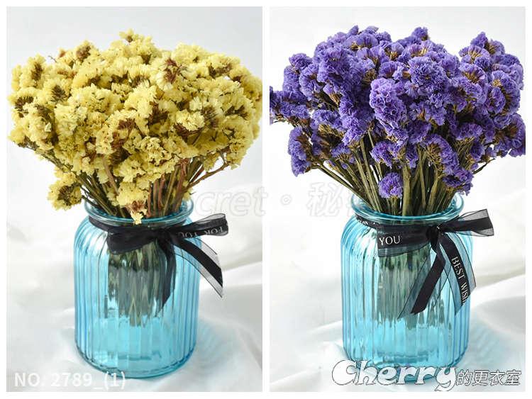 勿忘我花束客廳辦公室療愈插花裝飾真花DIY乾燥花家居花瓶擺飾