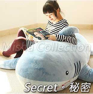 創意抱枕鯊魚沙發baby shark絨毛玩具超大號靠枕