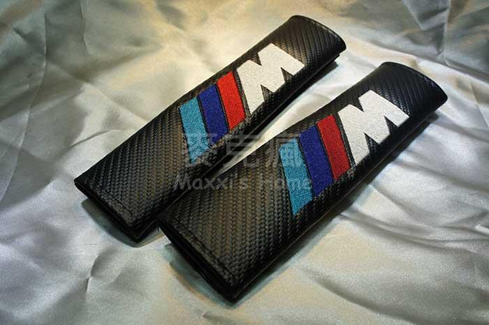 寶馬 BMW M Power 碳纖維紋安全帶護肩帶一對